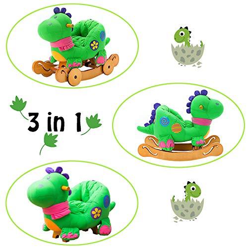 Schaukeltier Dino mit Rädern - 4